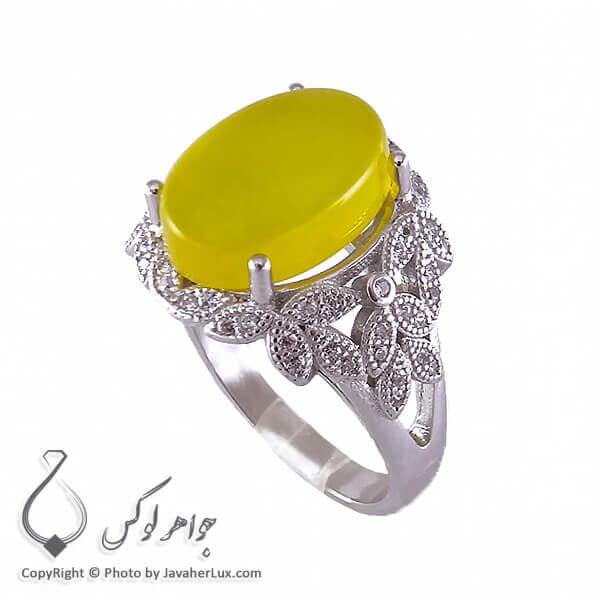 انگشتر عقیق زرد شرف الشمس زنانه