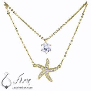 گردنبند زنانه ستاره دریایی _ کد : 200276