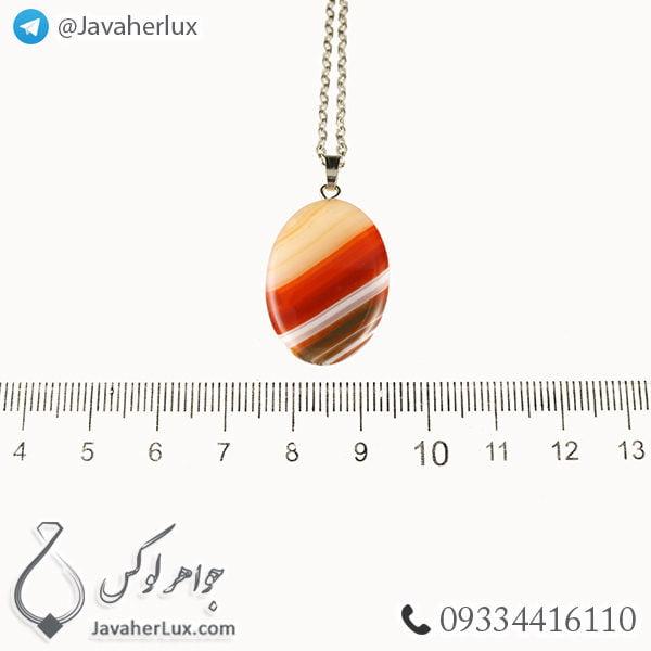 گردنبند سنگ عقیق مدل بوراب _ کد : 400266