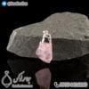 گردنبند سنگ رز کوارتز _ کد : 400293 - جواهر لوکس