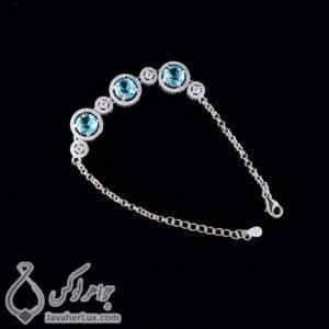 دستبند نقره زنانه مدل پارسان _ کد : 100433