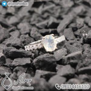 انگشتر نقره زنانه اوپال _ کد : 100438