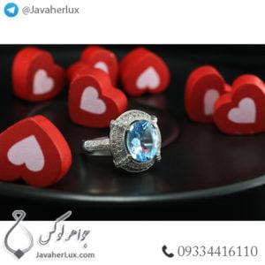 انگشتر نقره زنانه توپاز _ کد : 100446