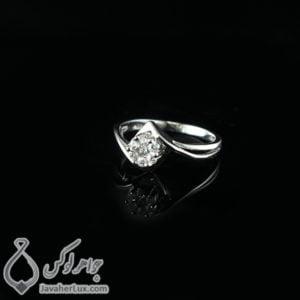 انگشتر نقره زنانه مدل پوریار _ کد : 100449