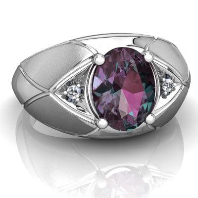 انگشتر سنگ الکساندریت - alexandrite - جواهر لوکس