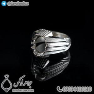 رکاب انگشتر نقره مردانه دست ساز _ کد : 100454