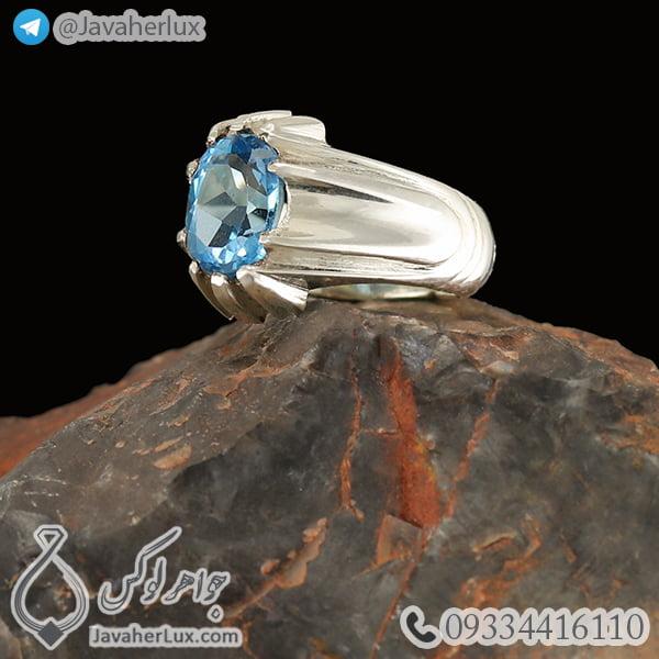 Mens-silver-topaz-ring-code-100459-1