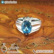 Mens-silver-topaz-ring-code-100459-3