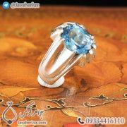 Mens-silver-topaz-ring-code-100459-5