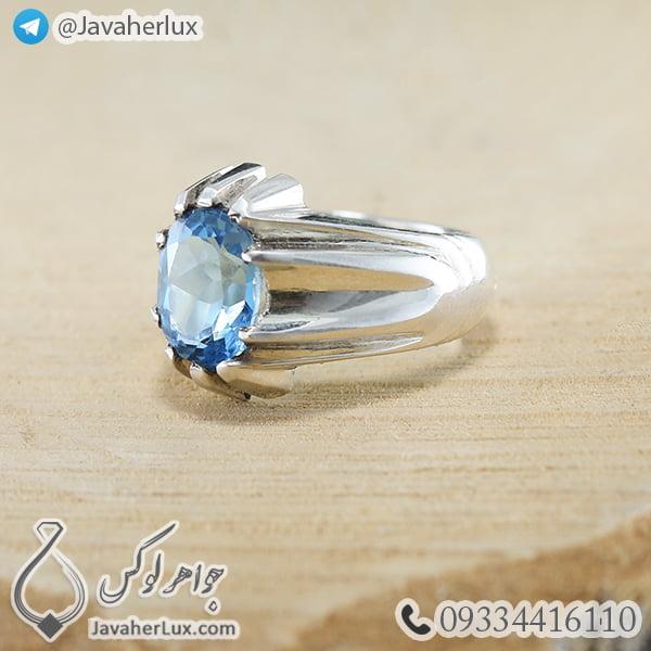 Mens-silver-topaz-ring-code-100459-6