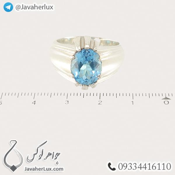 Mens-silver-topaz-ring-code-100459-7