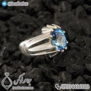Mens-silver-topaz-ring-code-100459-8