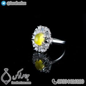 انگشتر نقره زنانه شرف الشمس _ کد : 100462