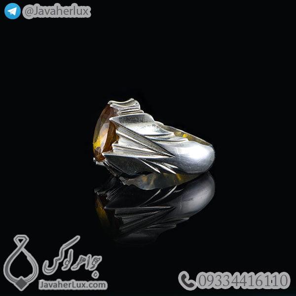 انگشتر نقره مردانه زولتانیت _ کد : 100474
