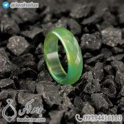 حلقه سنگ عقیق سبز _ کد : 400356