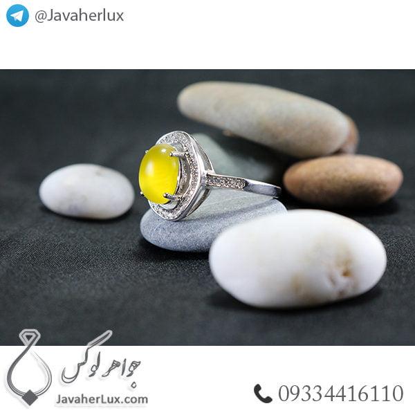 انگشتر نقره زنانه شرف الشمس مدل داتیس _ کد : 100485