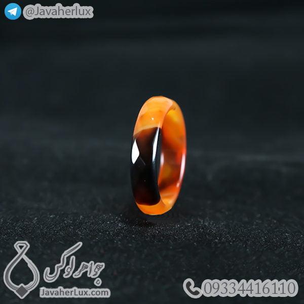حلقه سنگ عقیق مدل داریا _ کد : 400377