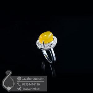 انگشتر نقره زنانه شرف الشمس مدل روزبهان _ کد : 100511