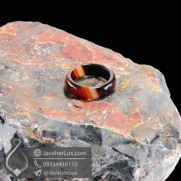 حلقه عقیق سلیمانی مدل رشنواد _ کد : 400398