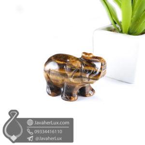 مجسمه فیل سنگ چشم ببر _ کد : 400409