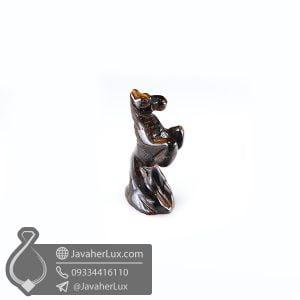 مجسمه سنگ چشم ببر تراش اسب _ کد : 400420