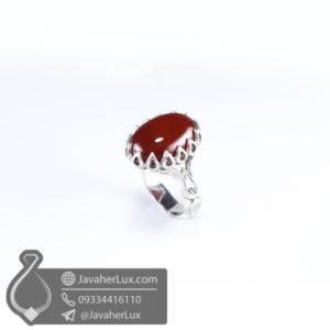انگشتر نقره مردانه عقیق قرمز مدل رمیار _ کد : 100516