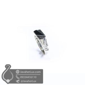 انگشتر نقره مردانه عقیق سیاه اسپرت _ کد : 100527