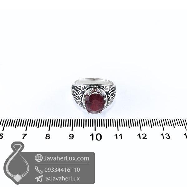 انگشتر اسپرت نقره یاقوت سرخ _ کد : 100531