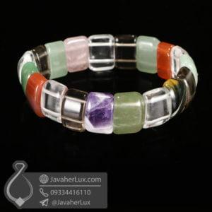 دستبند چند جواهر سنگ درمانی _ کد : 400467