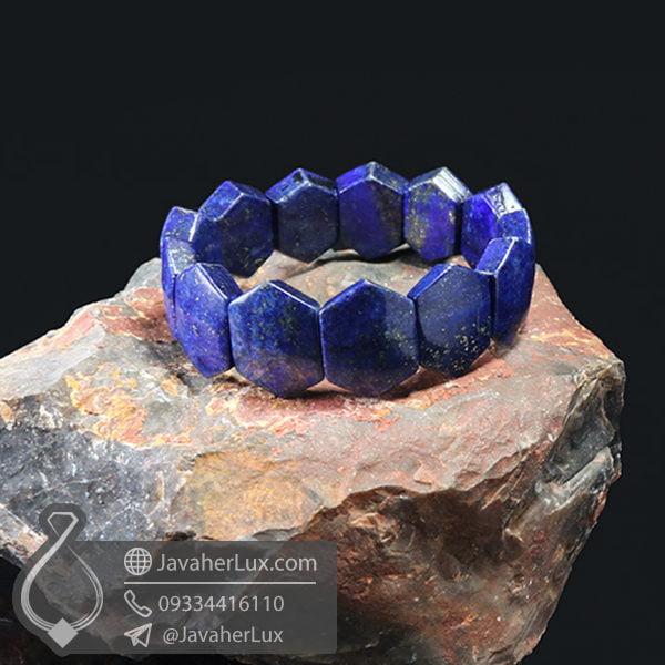 دستبند سنگ لاجورد _ کد : 400472