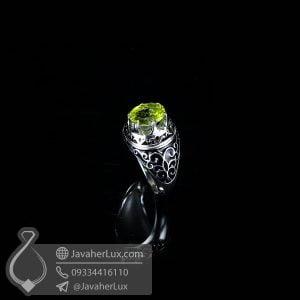 انگشتر نقره اسپرت مردانه زبرجد _ کد : 100541