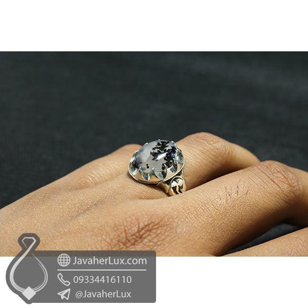 انگشتر نقره مردانه شجر _ کد : 100544