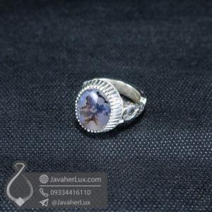 انگشتر نقره مردانه عقیق شجر _ کد : 100545