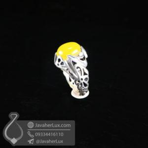 انگشتر نقره مردانه شرف الشمس مدل زریر _ کد : 100555