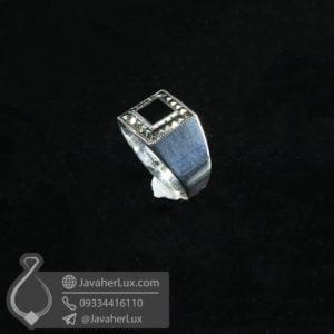 انگشتر اسپرت نقره عقیق سیاه _ کد : 100557