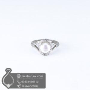 انگشتر نقره زنانه مروارید _ کد : 100586