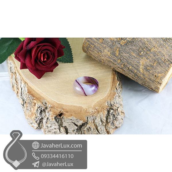 انگشتر تمام سنگ عقیق سلیمانی _ کد : 400495