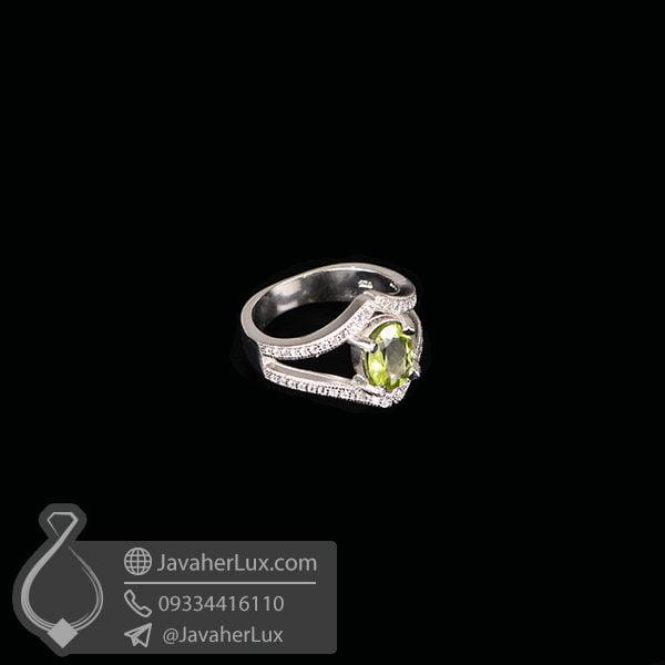 انگشتر نقره زنانه زبرجد _ کد : 100582
