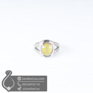 انگشتر نقره زنانه یاقوت زرد _ کد : 100585