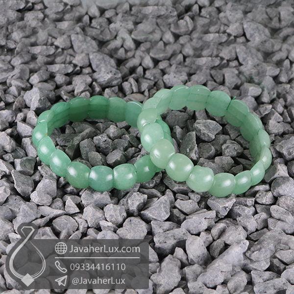 دستبند آونتورین سبز _ کد : 400513