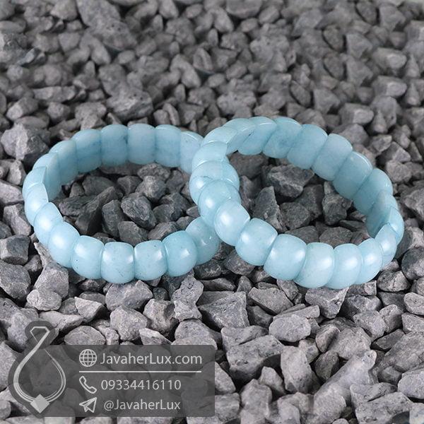 دستبند سنگ آکوامارین _ کد : 400518