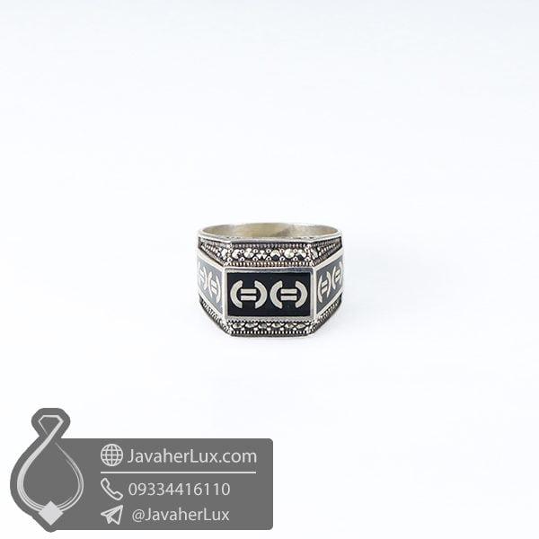 انگشتر نقره اسپرت مردانه _ کد : 100588