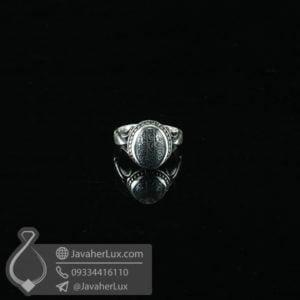 انگشتر نقره مردانه حدید حکاکی هفت جلاله _ کد : 100590