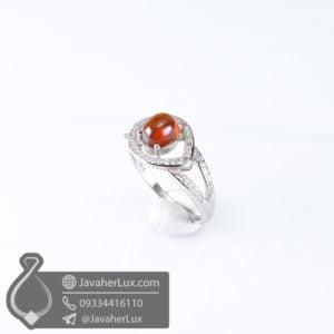 انگشتر نقره زنانه گارنت _ کد : 100595