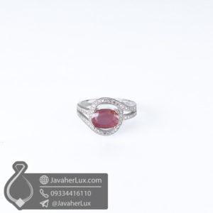 انگشتر نقره زنانه یاقوت سرخ مدل لنا _ کد : 100601