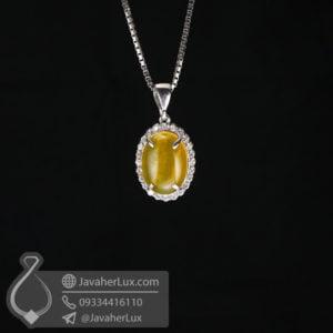 گردنبند نقره زنانه شرف الشمس مدل کشوا _ کد : 100629