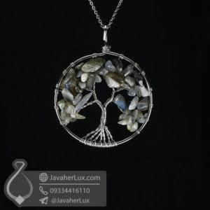 گردنبند لابرادوریت درخت زندگی _ کد : 400545