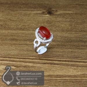 انگشتر نقره زنانه عقیق یمنی مدل کبوجیه _ کد : 100622