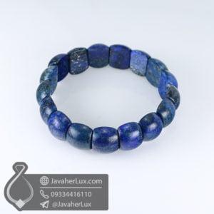 دستبند سنگ لاجورد اصلی _ کد : 400548