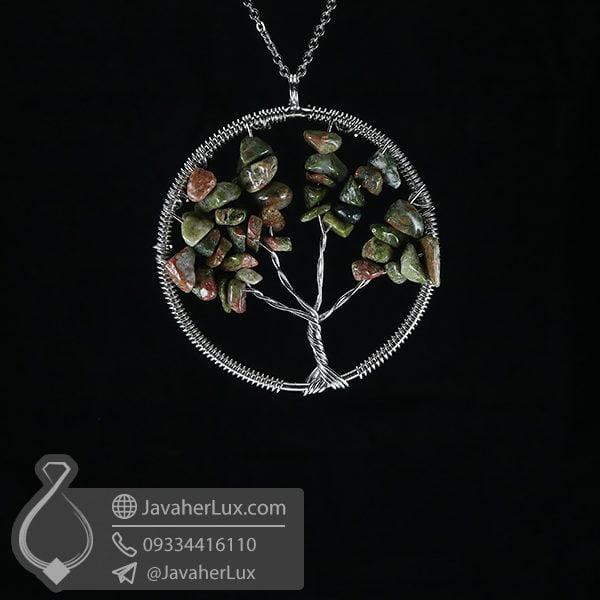 گردنبند اوناکیت درخت زندگی _ کد : 400550